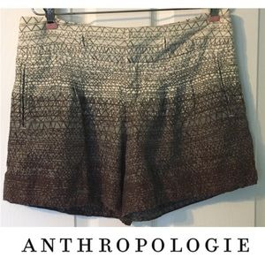 Anthropologie Coquille Ombré Scribble Shorts 0